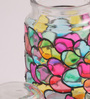 Gupta Glass Gallery Multicolour Glass Tea Light Holder