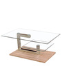 Glass N Wood Finish Center Table by Suvika Lifestyle