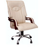 (Free Kid Chair)Glider Executive High Back Chair in Offwhite Color By VJ Interior