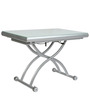 Glory Expandable Coffee Table in Silver Colour by Gravity