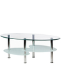 Glow Rectangular Coffee Table in Silver Colour by Godrej Interio