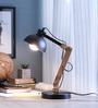 Glowbox Black Metal Study Lamp