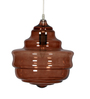 Glowbox Brown Glass Pendant