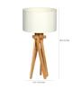 Glowbox Off White Fabric Table Lamp
