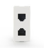 GM White 21.6 x 16.7 x 25.6 Inch 4 Line Jack-Module 1 ( Rj - 11 with Pcb,10Amp) - Set of 2