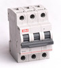 GM White 3.1 x 2.2 x 3.1 Inch 10A Triple Pole with Neutral C Type MCB