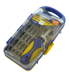 Goodyear Plastic & Steel Ratchet Screwdriver & Bits Set
