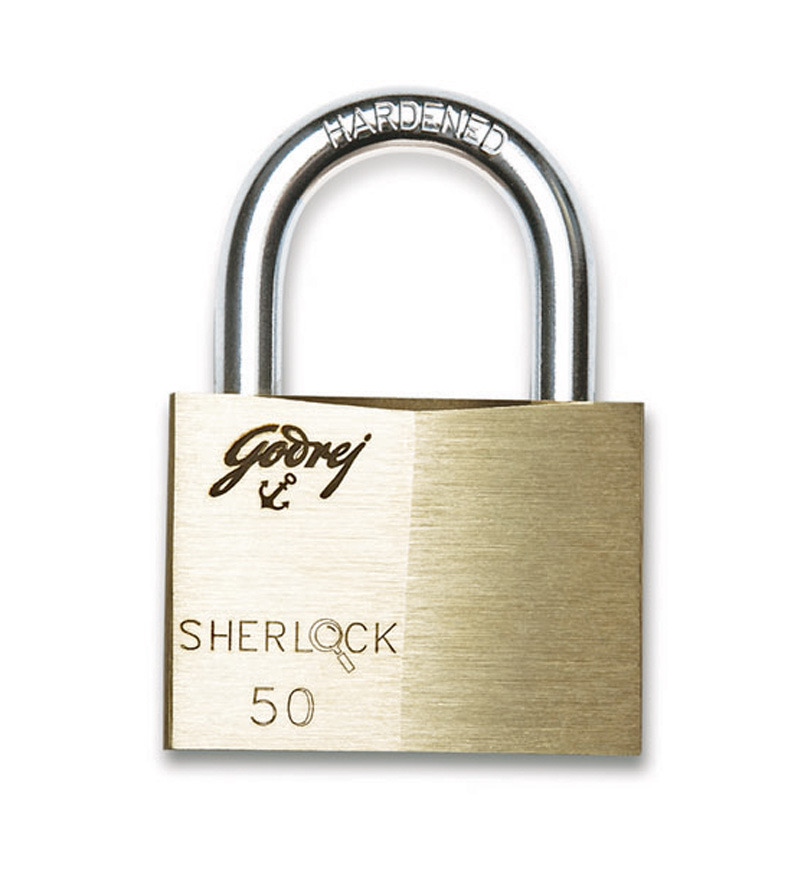 Godrej Locking Solutions Sherlock Brass 50 mm Padlock  available at Pepperfry for Rs.509