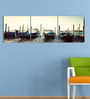 Go Hooked MDF 27 x 9 Inch 3-Panel Boats Wall Decor