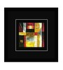 Go Hooked MDF 10.5 x 10.5 Inch Abstract Framed Art Print