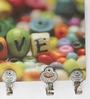 Go Hooked Multicolour MDF Love Designer Lightweight Key Holder