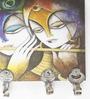 Go Hooked Multicolour MDF Radha Krishna Designer Lightweight Key Holder