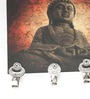 Go Hooked Multicolour MDF Buddha Designer Lightweight Key Holder
