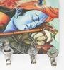 Go Hooked Multicolour MDF Spiritual Radha & Krishna Key Holder