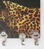 Go Hooked Black & Gold MDF Tiger Designer Lightweight Key Holder