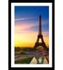 Go Hooked MDF 14 x 20 Inch Eiffel Tower Framed Art Print