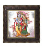 Go Hooked MDF 12 x 1 x 12 Inch Krishna with Flute Framed Art Print