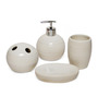 Go Hooked White Ceramic 4-piece Bathroom Set