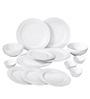 Godskitchen White Wavy 14-piece Dinner Set