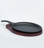 Godskitchen Sizzler Iron & Wood Sizzler Serving Plate