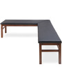Godwin Angular Dining Bench in Brown Colour by @ Home