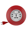 Goldmedal G-Dial Red and White 10 Ampere 7.9 x 6.8 x 2.1 Inch 2-pin Extension Cord