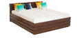 Grande King Box Storage Bed in Brown Colour by Godrej Interio