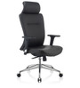 Grace High Back Executive Chair in Black PU by Oblique