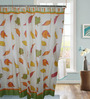 Gran GNNSC13 Multicolor Polyester Shower Curtain with 12 Hooks