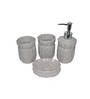 Gran Grey Ceramic Bath Accessories - Set of 4