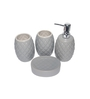 Gran Grey Ceramic Bath Accessories - Set of 4