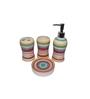 Gran Multicolour Ceramic Bath Accessories - Set of 4