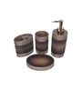 Gran Brown Resin Bath Accessories - Set of 4