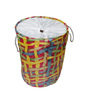 Gran Polyester & PVC 20 L Multicolour Foldable Laundry Basket