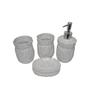 Gran White Ceramic Bath Accessories - Set of 4
