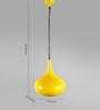 Grated Ginger Yellow Metal Pendant