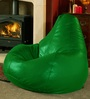 Green Bean Bag  Cover with Zipper Velcro by Wraps N Drapz