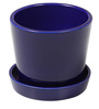Blue Ceramic Small Table Top & Saucer By Decardo