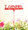 Green Gardenia GI metal Plant poker- LAVENDER-Red