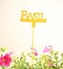Green Gardenia GI metal Plant poker-BASIL-Yellow