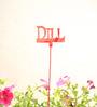 Green Gardenia GI metal plant poker-DILLl-Red