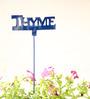 Green Gardenia GI metal plant poker-THYME-Blue