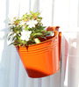 Green Gardenia Railing Bucket Large-Orange