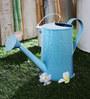 Green Girgit Design Embossed Watercane in Blue Colour