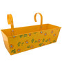 Green Girgit Handpainted Rectangle Planter in Yellow Colour
