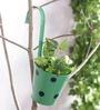 Green Girgit Green Polka Dots Railing Planter Pot