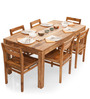 Gresham-Barcelona Six Seater Dining Set in Natural Finish by The ArmChair