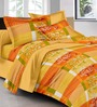GRJ India Multicolour Cotton Ethnic Double Bed Sheet (with Pillow Covers) - Set of 5