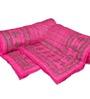 GRJ India Sanganeri Print Pink Cotton Ethnic Single Quilt - Set of 2