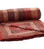 GRJ India Jaipuri Traditional Red Cotton Ethnic Single Quilt